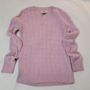 Sonoma Cable knit Pink Sweater. Size S
